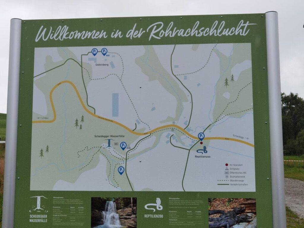 Übersichtstafel Rohraschschlucht in Scheidegg